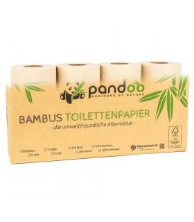 Papel higiénico de bambú - 8 rollos
