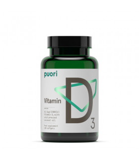Vitamina D3 Puori con aceite de coco